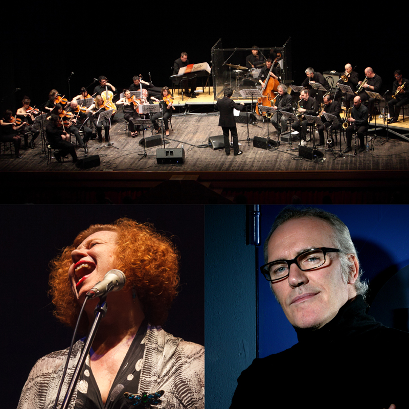 """FLY ME TO THE MOON""<br /><em>Omaggio a Frank Sinatra</em><br />ITALIAN JAZZ ORCHESTRA  + special guests SARAH JANE MORRIS & NICK THE NIGHTFLY, Direttore FABIO PETRETTI"