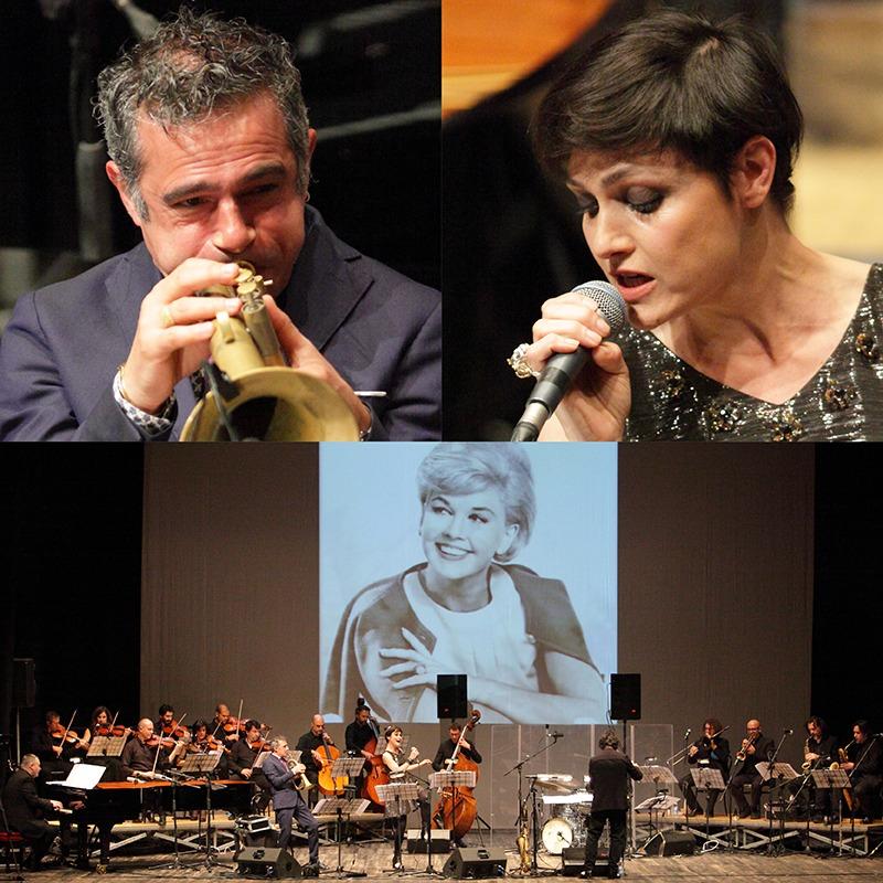 """""""QUE SERA, SERA""""<br /><em>Omaggio a Doris Day</em><br />ITALIAN JAZZ ORCHESTRA <br />+ <em>special guests</em> <br />PETRA MAGONI & PAOLO FRESU<br />Direttore FABIO PETRETTI"""